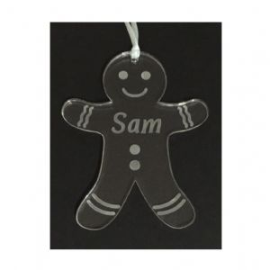 Personalised GINGERBREAD MAN Bauble